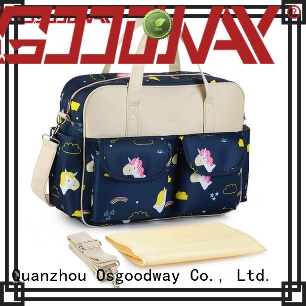 Osgoodway waterproof baby boy diaper bags easy to carry for mom