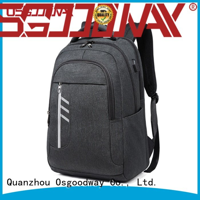 Osgoodway nylon travel laptop backpack supplier for work