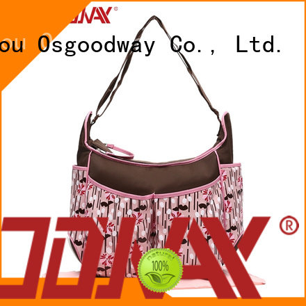 Osgoodway pink travel diaper bag easy to carry for mom