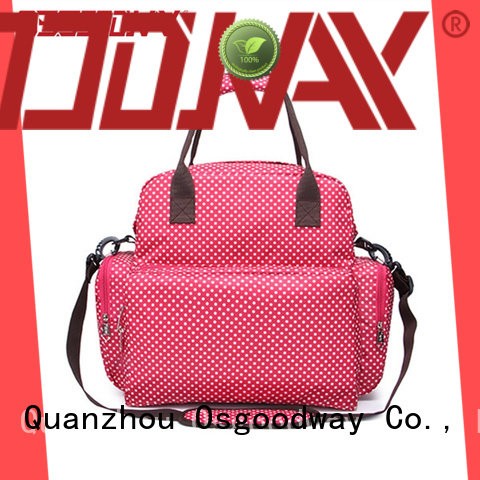 Osgoodway pu convertible backpack diaper bag easy to clean for baby care