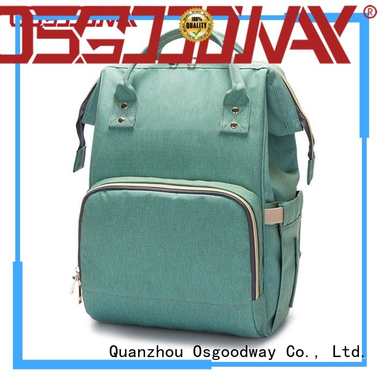 Osgoodway large capacity canvas diaper bag wholesale for mom