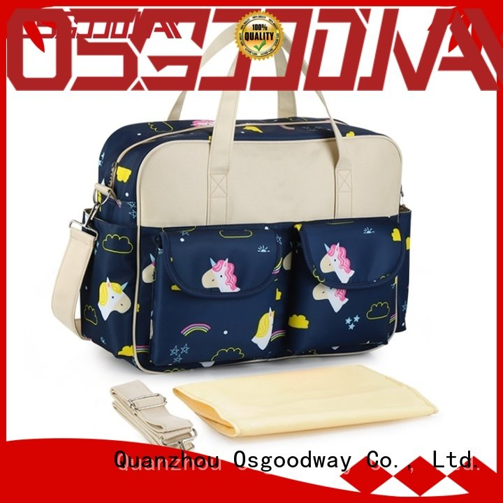 Osgoodway diaper bag for dad easy to clean for vacation