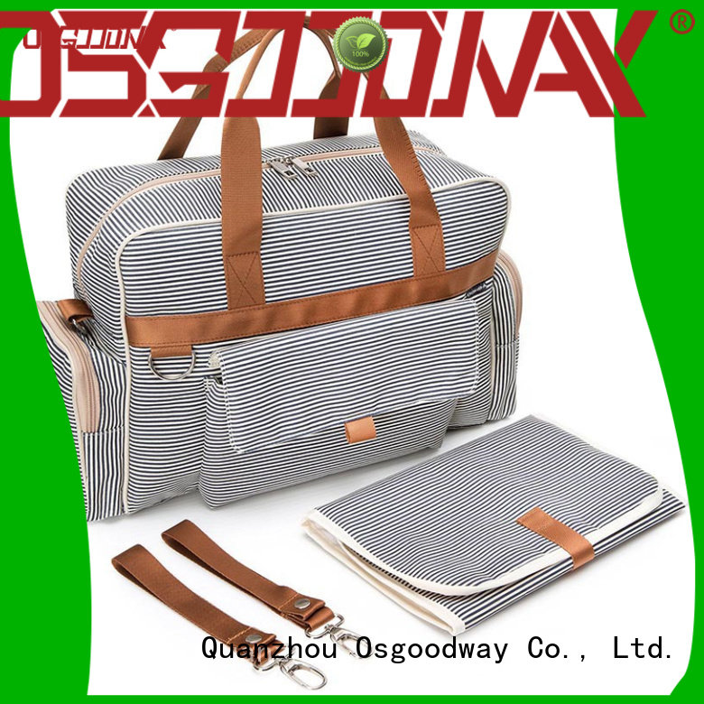 Osgoodway large capacity travel diaper bag easy to carry for mom