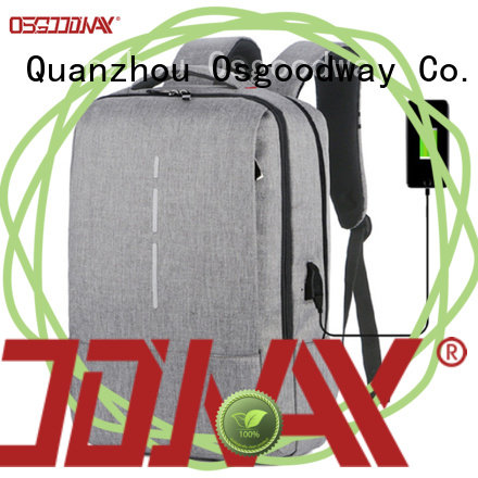 Osgoodway canvas laptop backpack from China for business traveling