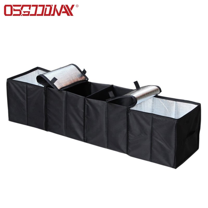 Car Trunk Storage Organizer with Cooler Compartment
