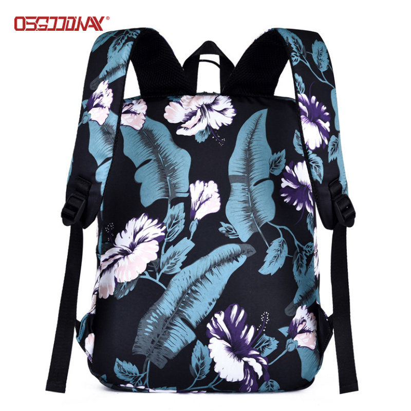Quality Custom Printed Backpacks Cute Girls Laptop Travel Backpack for Women