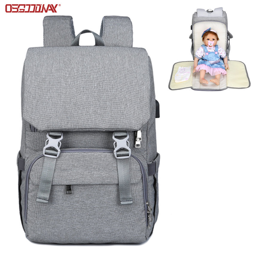 Multifunctional Designer Mummy Diaper Bag Backpack with Changing Pad