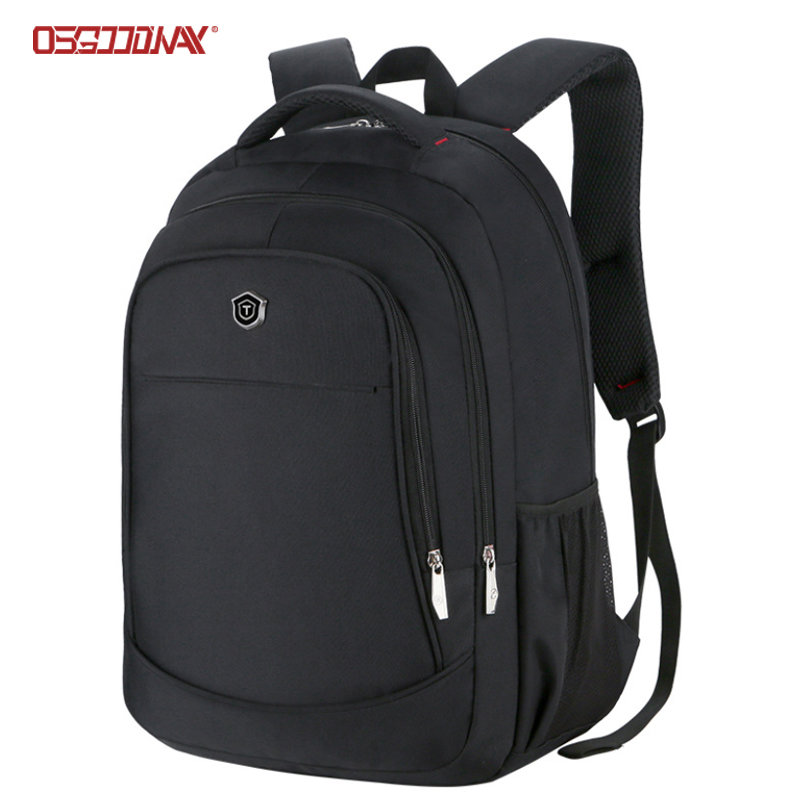 Black Business Laptop Backpack Bag Multi Compartments Computer Book Bag