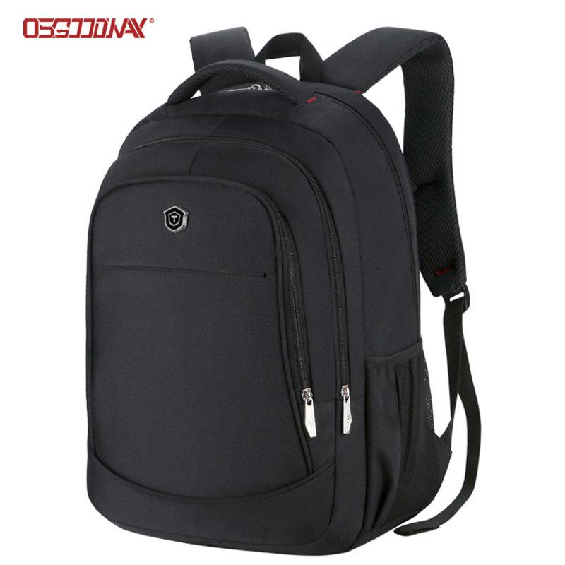 Black Business Laptop Backpack Bag Multi Compartments Computer Book Bag