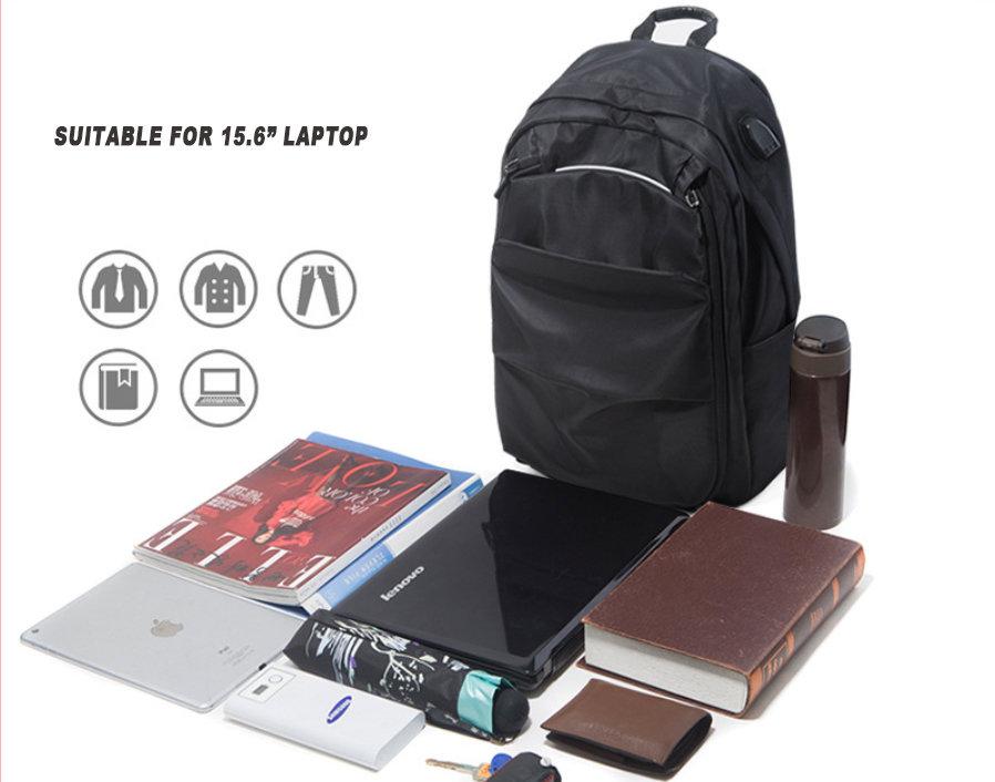 Nylon Rucksack Backpack Mens Fashionable Business  Laptop Backpack Bags