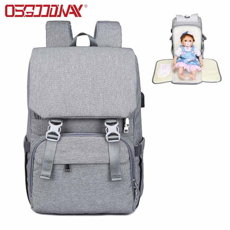 Baby Diaper Bag With USB Large baby nappy changing Bag Mummy Maternity Travel Shoulder Backpack for mom Nursing bags