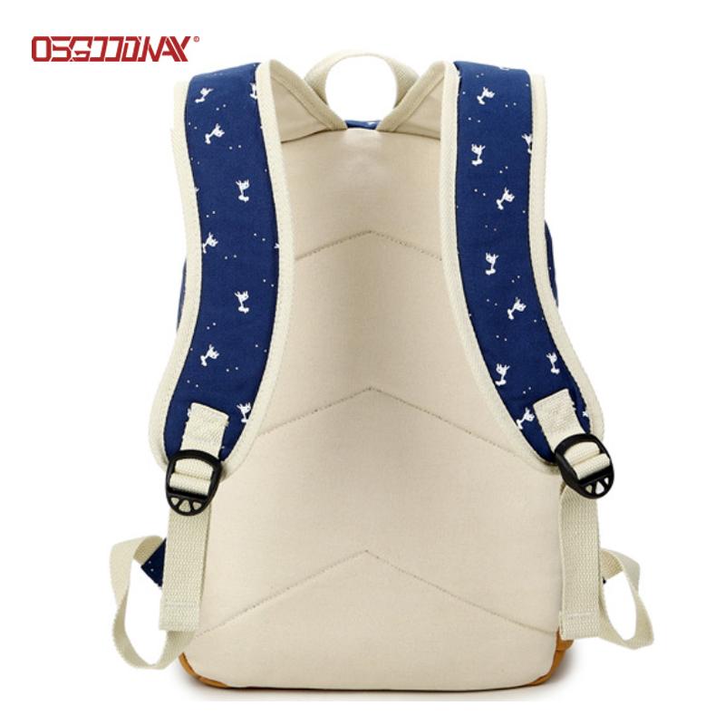 Canvas Backpack for Women Printing School Bag Cute Laptop Student Bookbags-backpack, school backpac