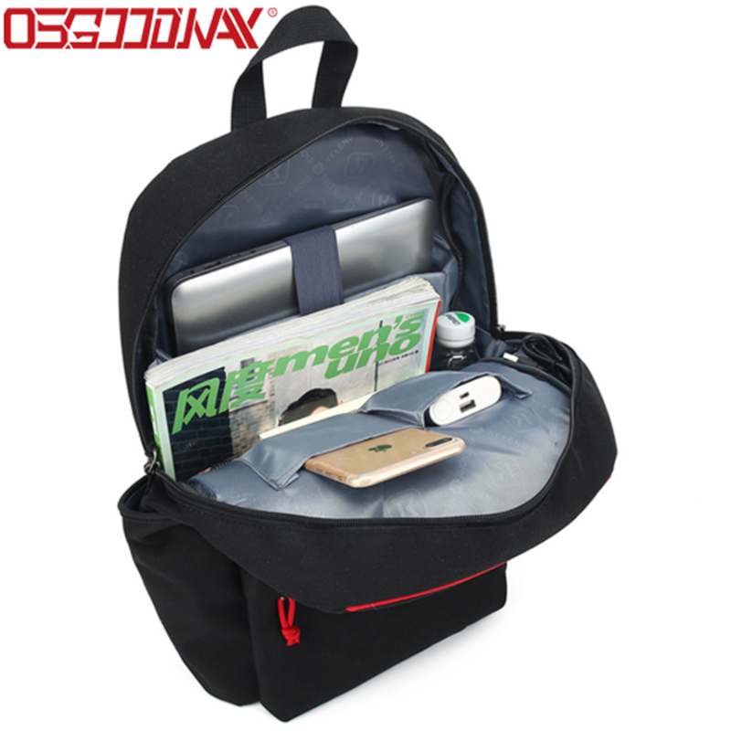 156 Inch Water Repellent Polyester Stylish School Casual Work Laptop Backpack-Osgoodway-img