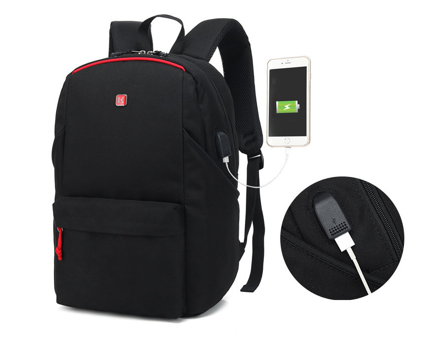 Wholesale Polyester Laptop Backpack 15.6 Inch USB Business Laptop Bag Backpack Waterproof Computer Office Bag Laptop
