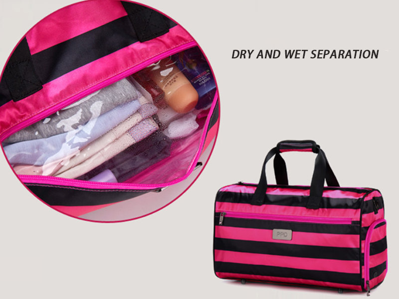 Gym Duffle Bag with Shoe Compartment and Wet Pocket for Women Swim Sports Travel Gym Bag