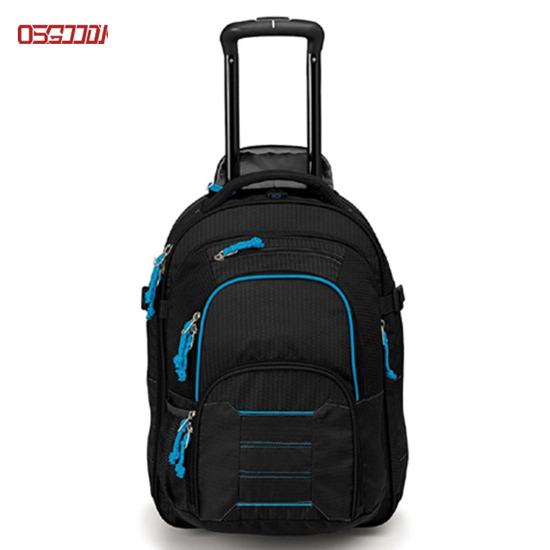 22 inch Detachable Carry-On Wheeled Backpack Travel Convertible Trolley Backpack with Wheels