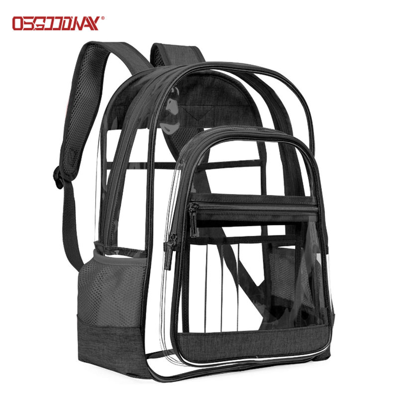 Clear Backpack Heavy Duty See Through Backpack Large Transparent PVC Backpack for College