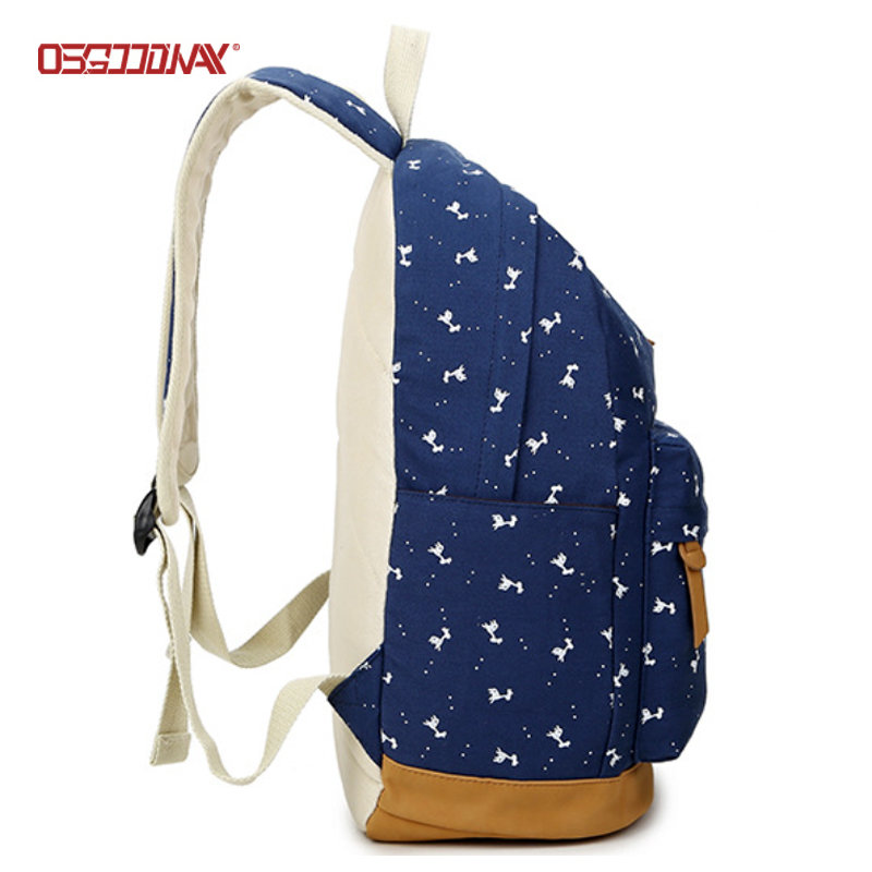 Canvas Backpack for Women Printing School Bag Cute Laptop Student Bookbags