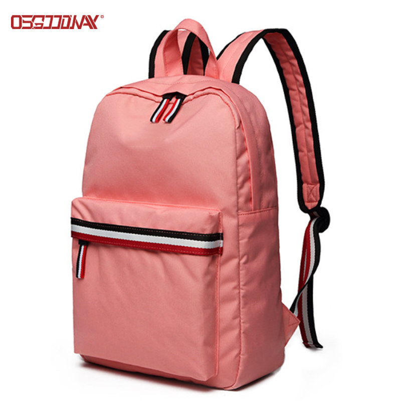 Trendy School Bags for Girls Polyester Casual Womens Fashion Rucksack Pink Backpack