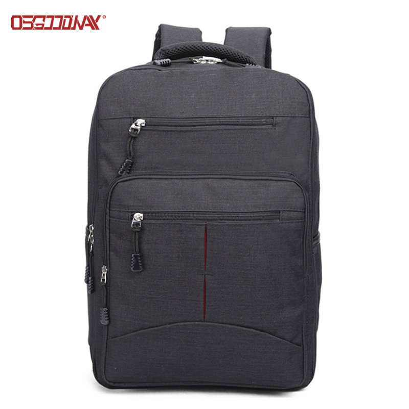 Black Wholesale Mens Rucksacks Backpack Custom Made College School Backpack Bags