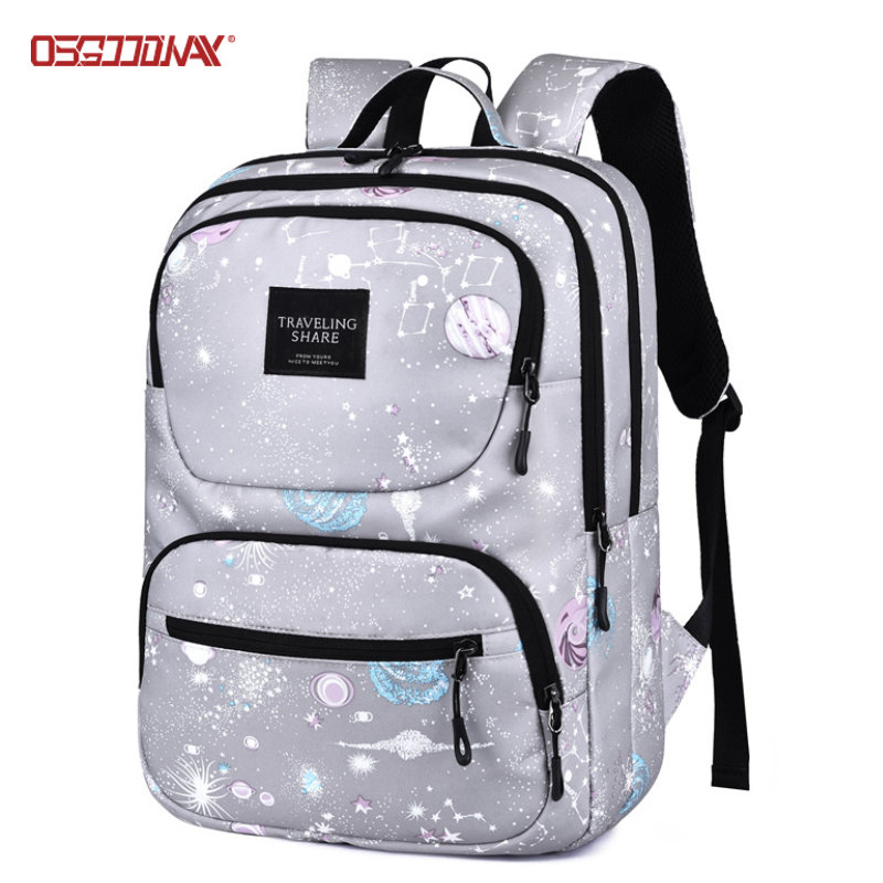 Fashion Printed Girly School Backpack with Laptop Protection Womens Backpack Bags