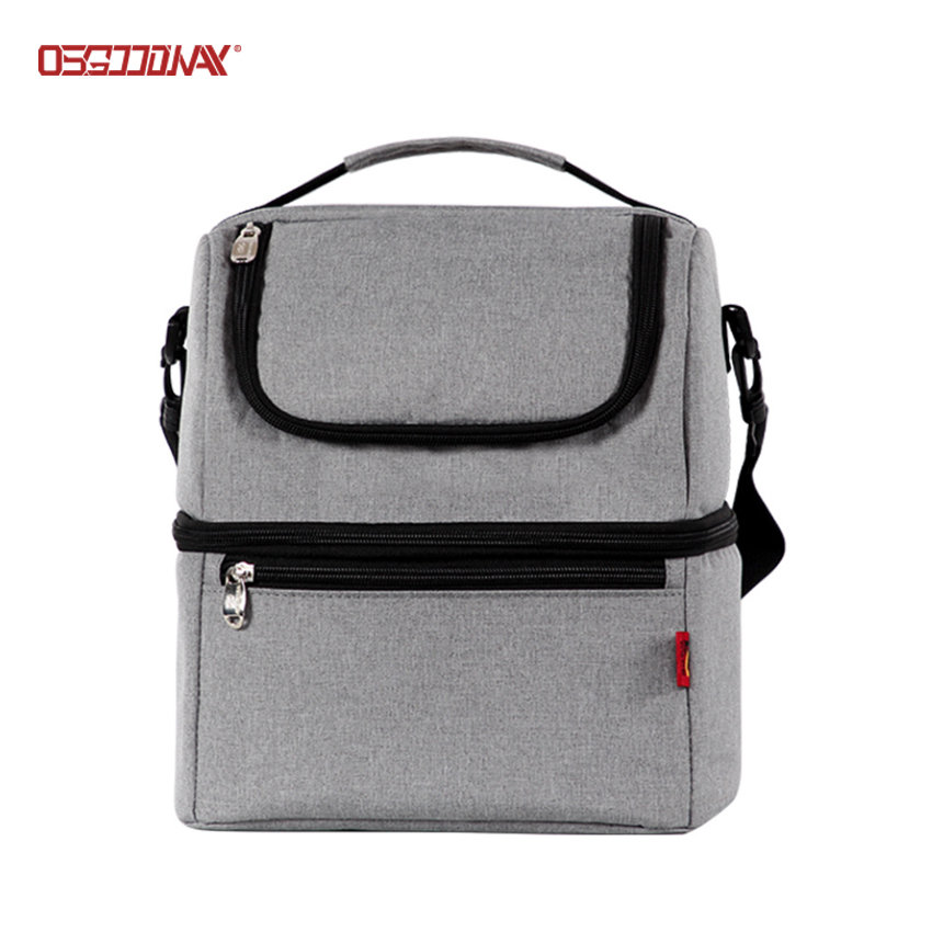 Adult Lunch Box Portable Dual Compartment Insulated Lunch Cooler Bag
