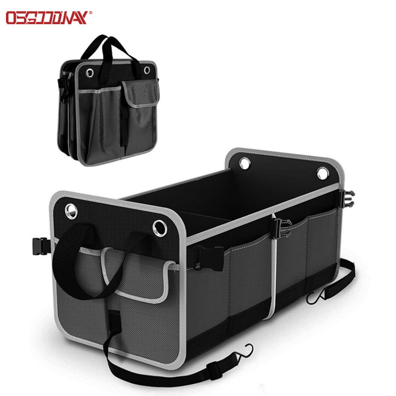 Durable Collapsible SUV Trunk Organizer Waterproof Car Seat Cargo Organizer Storage Box 26 inch