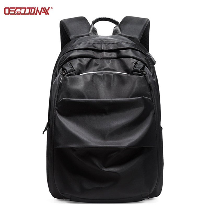 Custom Nylon Laptop Backpack Water Resistant Business Travel Backpack for Men