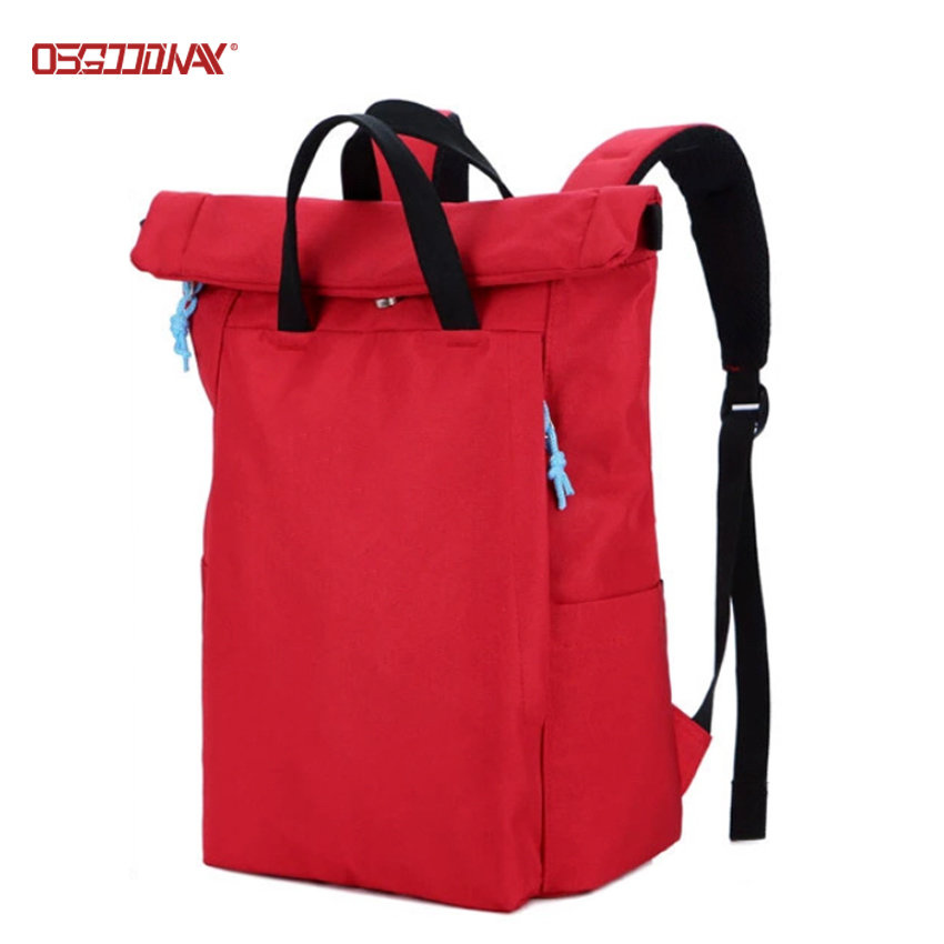 Custom Bagpack Rucksack Outdoor Roll Top Laptop Backpack Bag for College Student