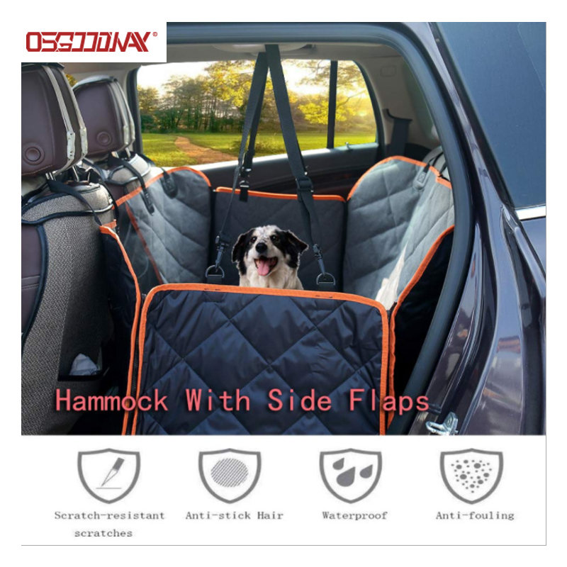 Waterproof Pet Car Seat Covers for Back Seat with Mesh Viewing Window Nonslip Bench Dog Seat Cover-Osgoodway