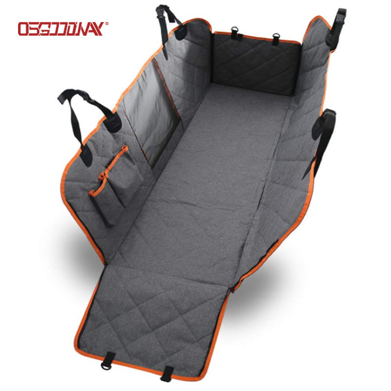 Waterproof Pet Car Seat Covers for Back Seat with Mesh Viewing Window Nonslip Bench Dog Seat Cover