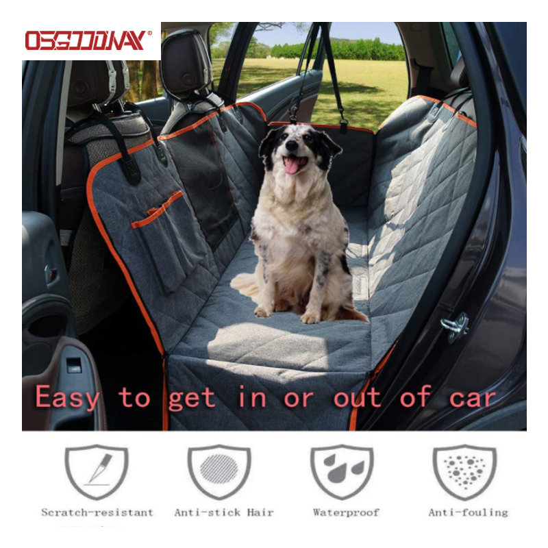product-Osgoodway-Waterproof Pet Car Seat Covers for Back Seat with Mesh Viewing Window Nonslip Benc