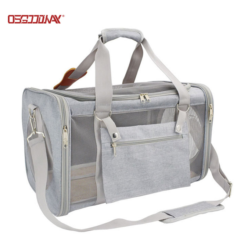 Soft Sided Portable Pet Travel Carrier Collapsible Dogs Cats Travel Tote Shoulder Carriers