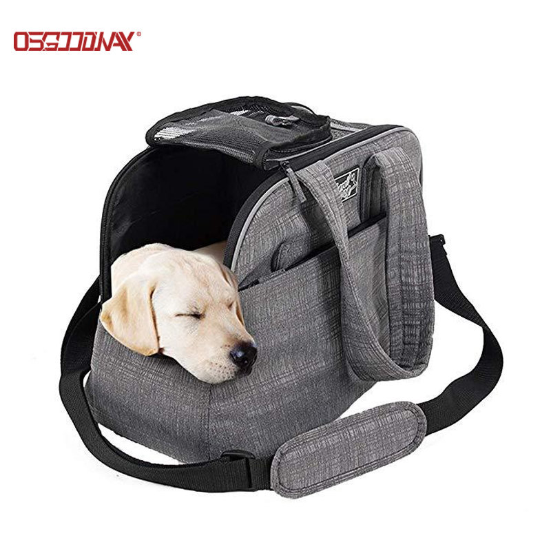 Custom New One-Shoulder Dog Pet Carrier Bag Go Out Portable Comfortable Pet Tote Handbag