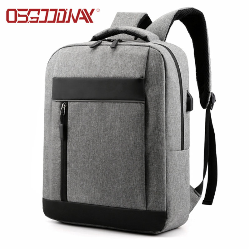 Anti-Theft Water Resistant College School Bag Fashionable Laptop Backpack with USB Charging Port