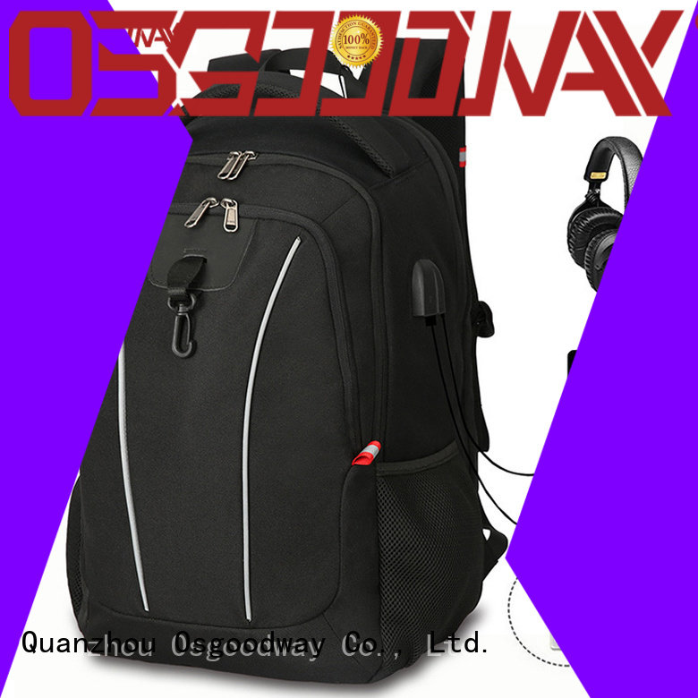 Osgoodway popular canvas laptop backpack wholesale for men