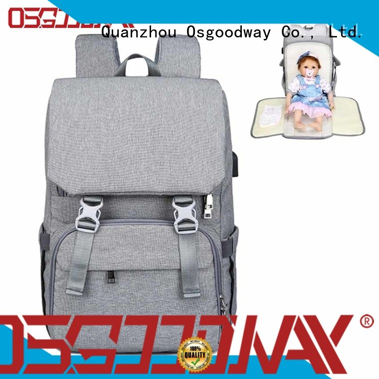 stylish diaper bag company easy to carry for baby care