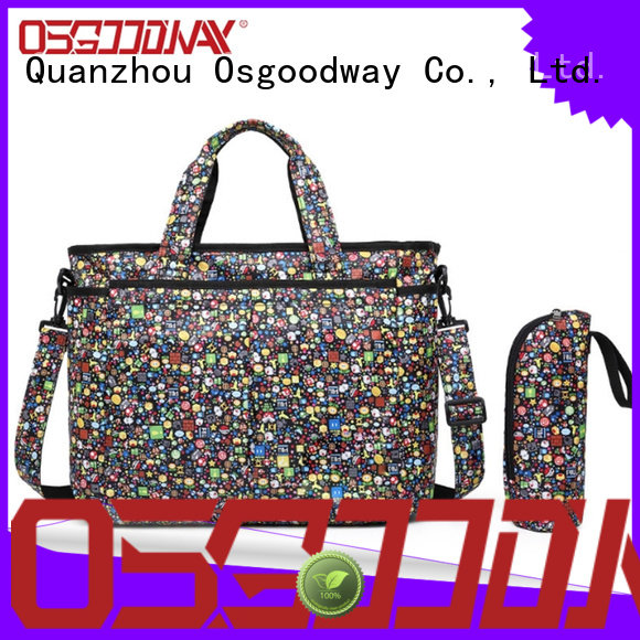 Cartoon Pattern Fancy Diaper Bag with Matching Changing Pad