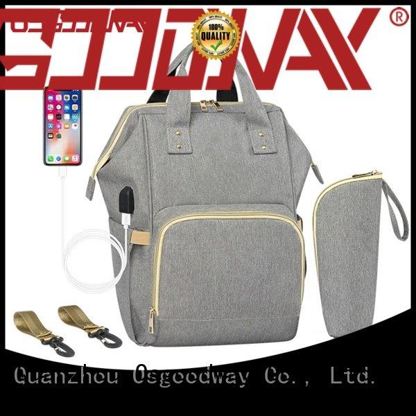 Anti-Water Multi-functional Maternity Backpack Diaper Bag with Built-in USB Charging Port