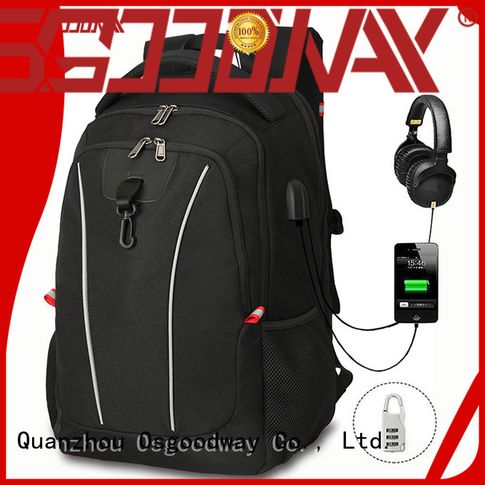 shot water resistant laptop backpack charging for business traveling Osgoodway