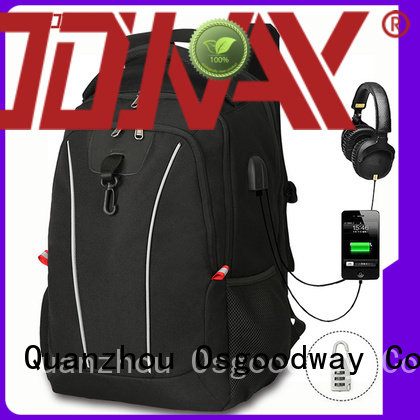 Osgoodway compartment laptop backpack manufacturers from China for men