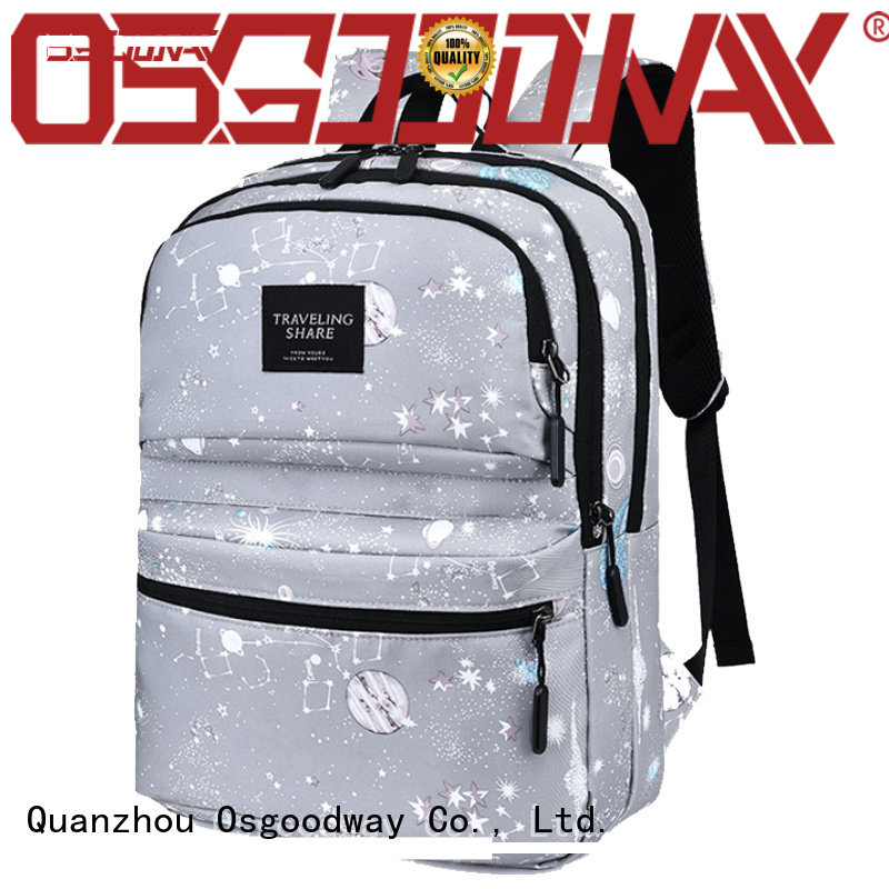 Osgoodway casual custom print backpack on sale for school
