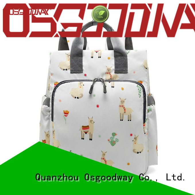 Osgoodway stylish mens diaper bag manufacturer for vacation