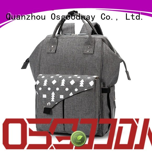 Large Capacity Double Compartments Travel Maternity Designer Diaper Bag Backpack