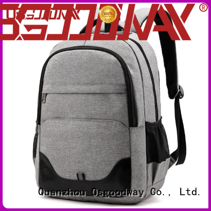 Osgoodway mens canvas backpack factory price for travel