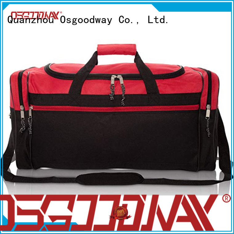 Osgoodway blank canvas duffle bag with Multi-pockets for fitness