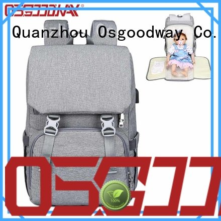 Osgoodway durable trendy diaper bags easy to carry for dad
