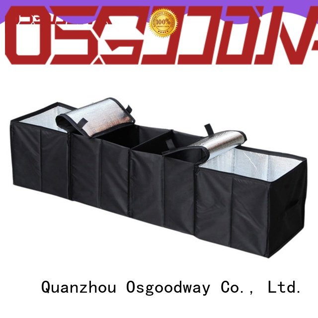 Osgoodway trunk organizer for groceries with cooler bag for car