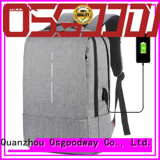 multifunction canvas laptop backpack daypack from China for school