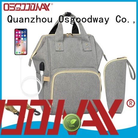 Osgoodway stylish baby diaper backpack double for mom